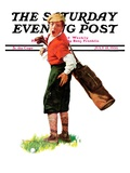 """Wounded Caddy "" Saturday Evening Post Cover  July 18  1936"