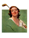 """Portrait of Lady Golfer ""April 22  1933"