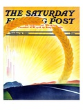"""Golden City "" Saturday Evening Post Cover  October 14  1939"