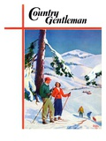 """Ski Break "" Country Gentleman Cover  January 1  1939"