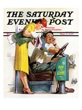 """""""Bus Fare """" Saturday Evening Post Cover  September 9  1939"""