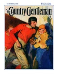 """""""Football Player and Fan """" Country Gentleman Cover  October 1  1926"""
