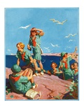 """Girl Scouts at Sea Shore ""July 1  1932"