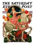 """Circus Bareback Rider "" Saturday Evening Post Cover  April 25  1931"