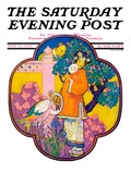 """Chinese Garden "" Saturday Evening Post Cover  May 16  1931"
