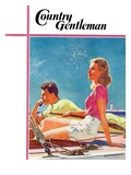 """Couple on Sailboat "" Country Gentleman Cover  August 1  1939"