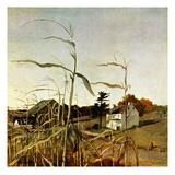 """Autumn Cornfield,""October 1, 1950 Giclée par Andrew Wyeth"
