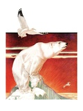 """Polar Bear on Iceberg ""January 14  1933"