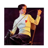 """Female Fencer ""April 1  1933"