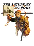 """'No Hunting' "" Saturday Evening Post Cover  October 28  1939"