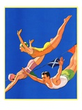 """Diving Women and Man ""August 1  1932"