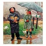 """Waiting for Bus in Rain ""April 1  1948"