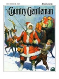 """""""Stay Santa  Stay! """" Country Gentleman Cover  December 1  1927"""
