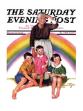 """Rainbow "" Saturday Evening Post Cover  March 28  1936"