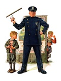 """Policeman and Boy with Slingshot ""March 15  1930"