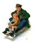 """Sledding with Grandpa ""February 8  1930"