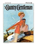 """Couple Sailing "" Country Gentleman Cover  August 1  1927"