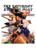 """Minutemen "" Saturday Evening Post Cover  June 13  1936"