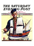 """Model Ship "" Saturday Evening Post Cover  October 5  1935"