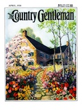 """Home in Springtime "" Country Gentleman Cover  April 1  1930"