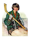 """Girl Hockey Player ""January 22  1927"