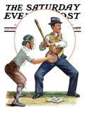 """Dad at Bat "" Saturday Evening Post Cover  June 1  1929"