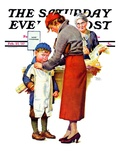 """New Woolies "" Saturday Evening Post Cover  February 27  1937"