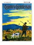 """Duck Hunter and Dog "" Country Gentleman Cover  October 1  1929"
