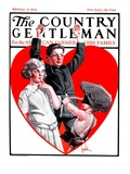 """""""Cupid Takes Aim """" Country Gentleman Cover  February 10  1923"""