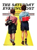 """Back to School "" Saturday Evening Post Cover  September 11  1937"