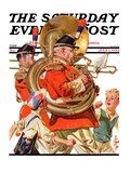 """Fourth of July Parade "" Saturday Evening Post Cover  July 1  1933"