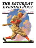 """Baseball Batter "" Saturday Evening Post Cover  May 28  1932"