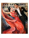 """Ballroom Dancing "" Saturday Evening Post Cover  April 10  1937"