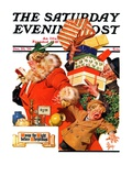 """'Night before Christmas' "" Saturday Evening Post Cover  December 26  1936"