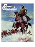 """Herding in Winter Storm "" Country Gentleman Cover  March 1  1944"
