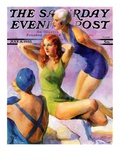 """Three Bathing Beauties "" Saturday Evening Post Cover  July 8  1933"