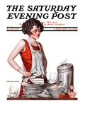 """Dirty Dishes "" Saturday Evening Post Cover  February 23  1924"