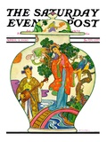 """Oriental Vase "" Saturday Evening Post Cover  April 5  1930"