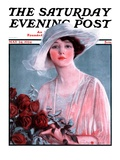 """Bouquet of Roses "" Saturday Evening Post Cover  May 24  1924"