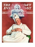 """Cake Dream "" Saturday Evening Post Cover  June 11  1938"
