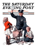 """""""Soapbox Wreck """" Saturday Evening Post Cover  February 2  1924"""