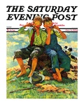 """Harmonica Players "" Saturday Evening Post Cover  October 6  1934"