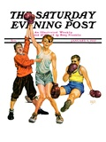"""""""Boxing Champ """" Saturday Evening Post Cover  January 9  1937"""