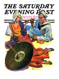 """Shore Leave "" Saturday Evening Post Cover  August 8  1931"