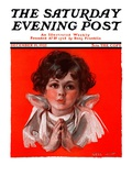 """Little Angel "" Saturday Evening Post Cover  December 19  1925"