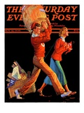 """""""After the Game """" Saturday Evening Post Cover  November 14  1936"""
