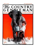 """Watering the Elephant "" Country Gentleman Cover  July 14  1923"
