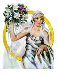 """Bride and Bouquet ""October 13  1928"