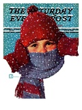 """Bundled Up "" Saturday Evening Post Cover  January 14  1939"