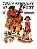 """God Rest Ye Merrie Gentlemen "" Saturday Evening Post Cover  December 24  1932"